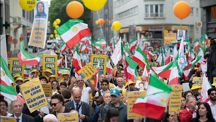 تظاهرات ایرانیان در بروکسل - ۲۵خرداد۹۸
