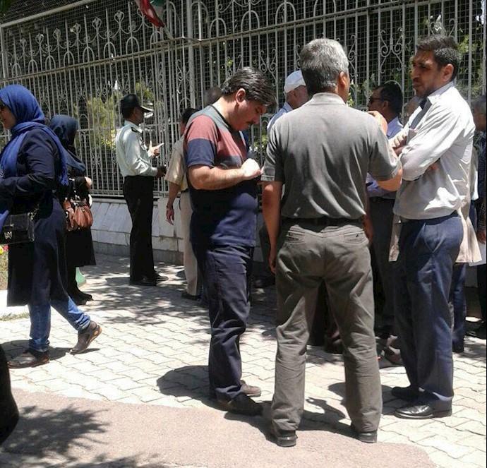 تجمع اعتراضی غارتشدگان کاسپین مشهد