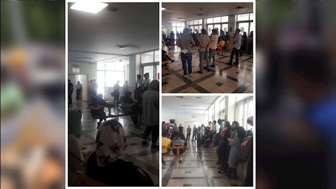 تجمع اعتراضی دانشجویان دانشکده علوم اجتماعی تهران