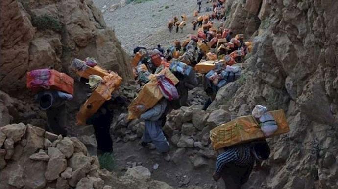 کولبران در منطقه کردستان