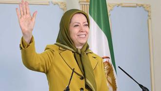 پیام مریم رجوی به تظاهرات ایرانیان در مقابل اتحادیه اروپا - بروکسل