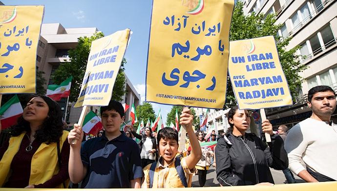 تظاهرات بروکسل در همبستگی با قیام و مقاومت ایران