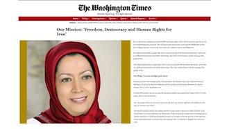 واشنگتن تایمز - مقالهیی به قلم مریم رجوی