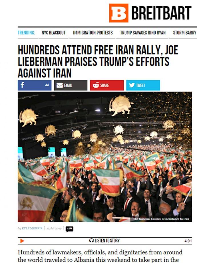 برایت بارت - گردهمایی ایران آزاد اجلاس سالانه مقاومت ایران در اشرف ۳- ۲۲تیر۹۸