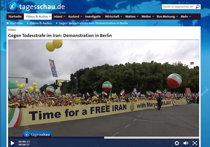 سایت خبری کانال یک آلمان - تظاهرات بزرگ برلین ۱۵تیر۹۸