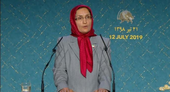 مژگان پارسایی - بزرگداشت نبرد تاریخی مردم ایران برای آزادی - اشرف ۳
