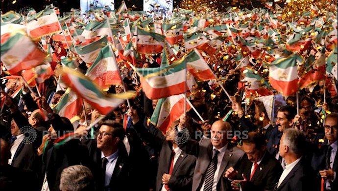 تصویری از خبرگزاری رویترز - گردهمایی ایران آزاد اجلاس سالانه مقاومت ایران در اشرف ۳ - ۲۲تیر۱۳۹۸