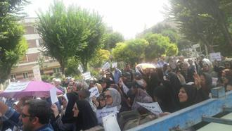 اعتراض بازنشستگان در تهران - آرشیو