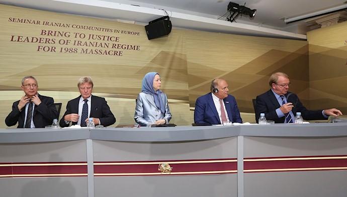 فراخوان مریم رجوی به جامعه بینالمللی برای محاکمه مسئولان قتلعام شدگان ۶۷و توقف اعدام در ایران