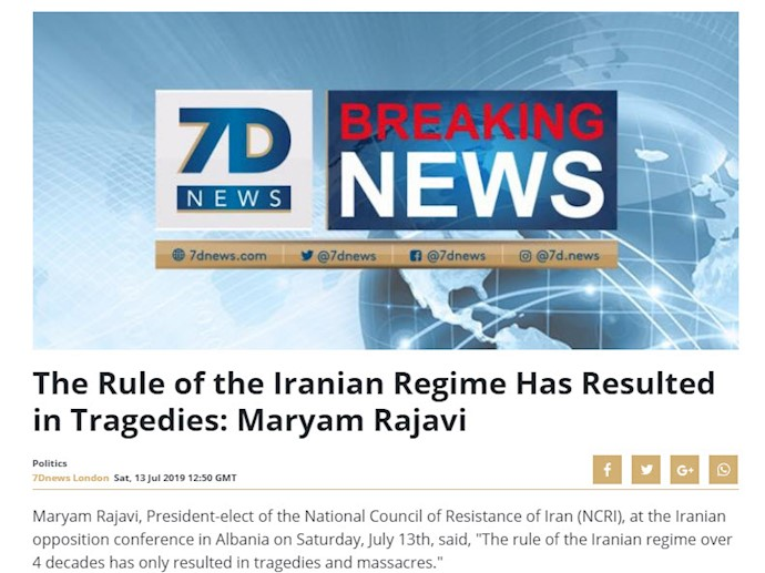 سون دی نیوز- گردهمایی ایران آزاد اجلاس سالانه مقاومت ایران در اشرف ۳- ۲۲تیر۹۸
