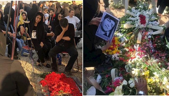 مراسم چهلمین روز شهادت زندانی سیاسی علیرضا شیرمحمدعلی در بهشت زهرا