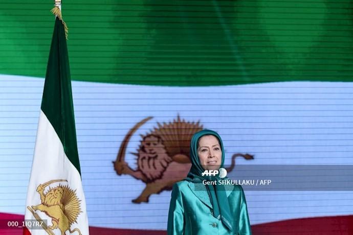 خبرگزاری فرانسه - مریم رجوی - گردهمایی ایران آزاد اجلاس سالانه مقاومت ایران در اشرف ۳