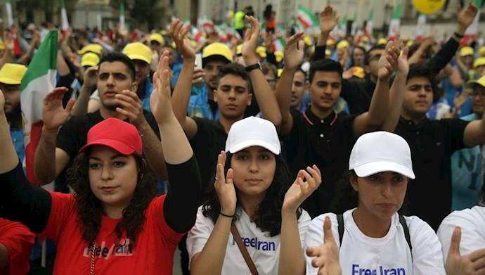 تظاهرات در لندن - برای ایران آزاد - همبستگی با قیام و مقاومت مردم ایران