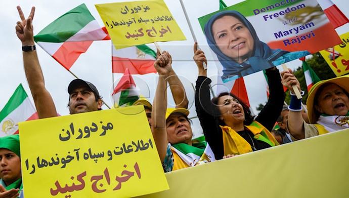 تظاهرات بزرگ ایرانیان در برلین ۹