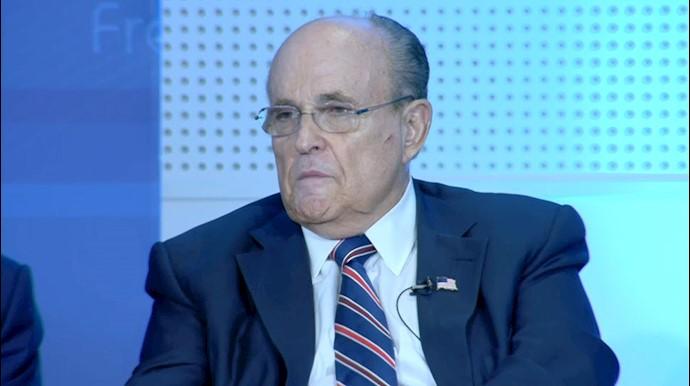 شهردار رودی جولیانی - کنفرانس بینالمللی در اشرف ۳