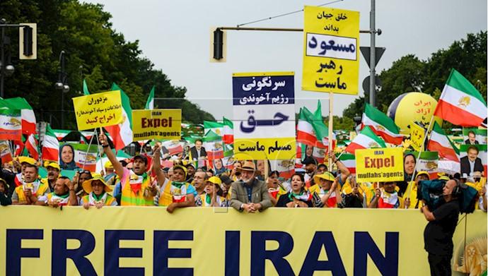 تظاهرات بزرگ در برلین برای ایران آزاد - ۱۵تیر۹۸