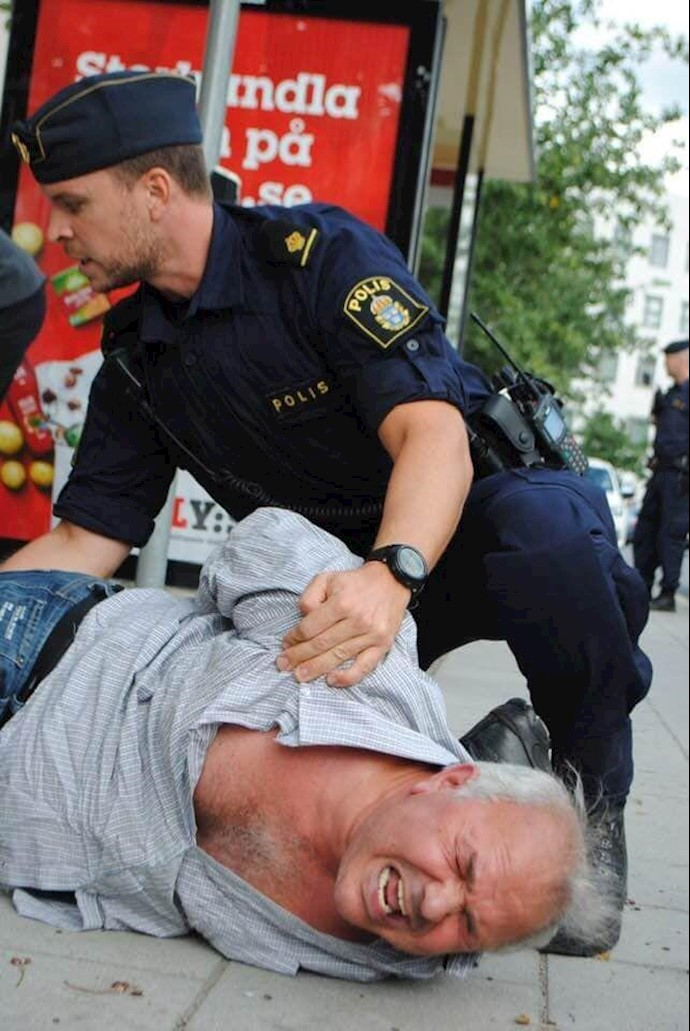 اعتراض هموطنان و یاران اشرفنشان علیه حضور جواد ظریف در سوئد
