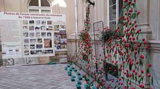تصاویری از نمایشگاه قتل عام شدگان در شهرداری منطقه یک پاریس - آرشیو