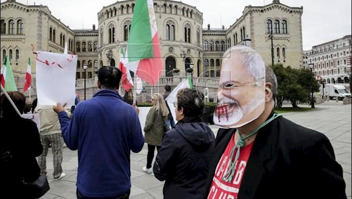 تظاهرات ایرانیان علیه ظریف ماله کش جنایات آخوندها