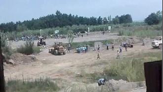 درگیری مردم با ماموران جنایتکار پادگان نیروی هوایی محمودآباد مازندران