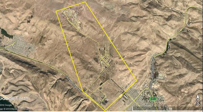 ضمیمه۴- عکس ماهوارهای پادگان بعثت ۱-شمال شیراز