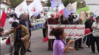 جشن و پایکوبی حامیان مقاومت پس از خروج مجاهدین از لیست تروریستی