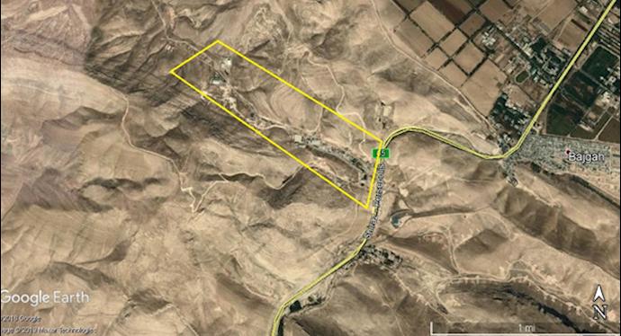 ضمیمه۵- عکس ماهوارهای پادگان بعثت ۲-شمال شیراز