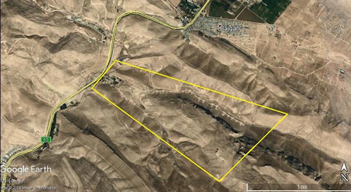 ضمیمه۶- عکس ماهوارهای پادگان شرق چشمه بیدی-شمال شیراز