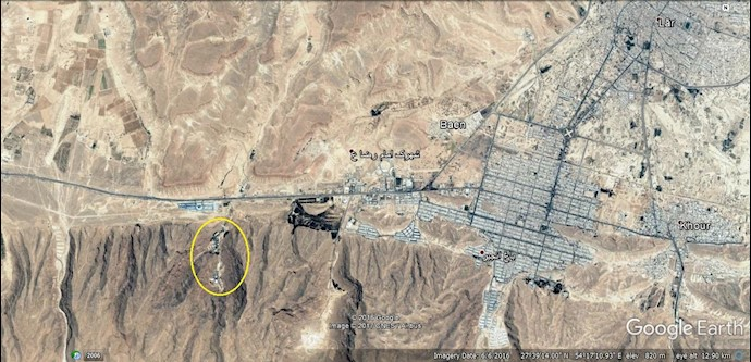 ضمیمه۸- عکس ماهوارهای مرکز موشکی لار(در غرب شهرستان لار)