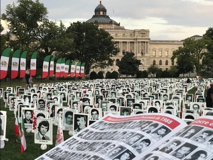 نماد قتلعام شدگان در مقابل کنگره آمریکا