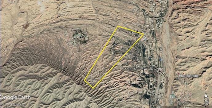 عکس ماهوارهای طرح ۴در سایت پارچین (جنوب شرق تهران)