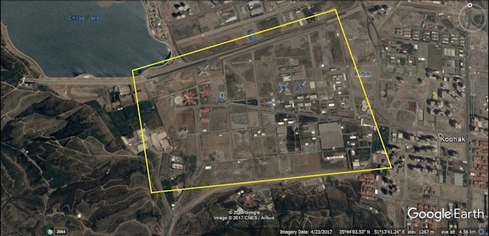 عکس ماهوارهای ستاد فرماندهی هوا- فضای سپاه در پادگان دستواره