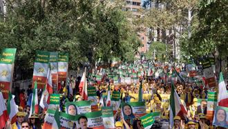 تظاهرات نه به روحانی در نیویورک