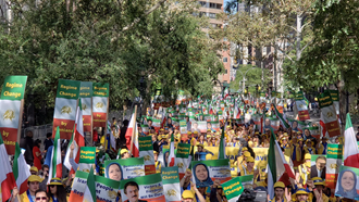 تظاهرات در نیویورک علیه آخوند روحانی