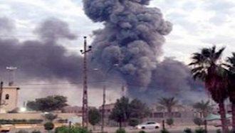 تهاجم به انبارهای تسلیحاتی حشدالشعبی در استان الانبار عراق