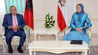 مریم رجوی و ایلیر متا رئیس جمهور آلبانی
