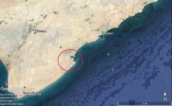 ضمیمه ۱۳- عکس ماهوارهای از مرکز موشکی سپاه در جزیره قشم