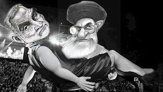 جنازه حاج قاسم روی دست عظما!