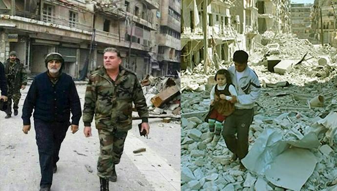 پاسدار قاسم سلیمانی در سوریه