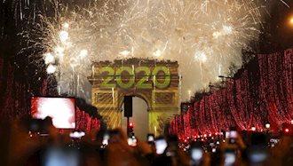 آغاز سال نو میلادی ۲۰۲۰ در پاریس