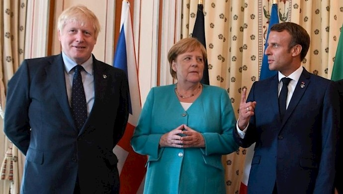 سران فرانسه و آلمان و انگلستان