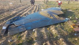 سرنگونی هواپیمای اوکراینی توسط پدافند هوایی  سپاه پاسداران در تهران