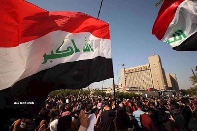 بغداد -تظاهرات دانشجویان مقابل وزارت آموزش و پرورش