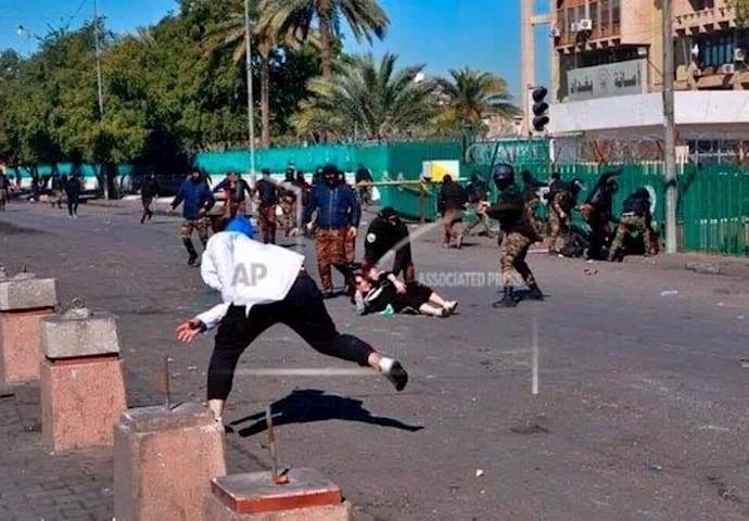 حمله نیروهای سرکوبگر دولتی و شبهنظامی بهمیدان خلانی و وثبه -۷بهمن۹۸