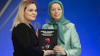 مریم رجوی رئیس جمهور برگزیده مقاومت ایران -  کروئه مازی رئیس جنبش سوسیالیست آلبانی
