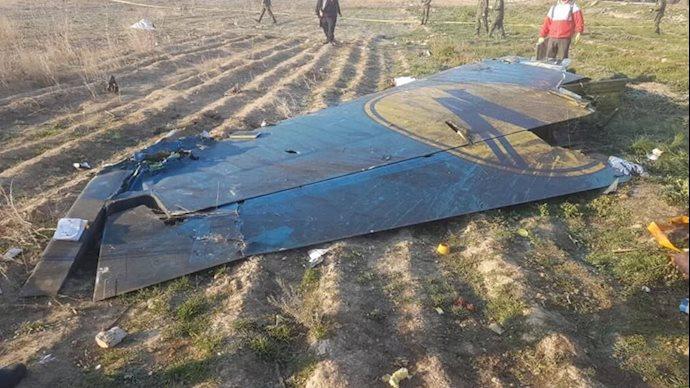 قطعات سرنگون شده هواپیمای اوکراینی
