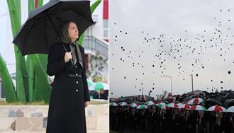 مریم رجوی - مراسم بزرگداشت جان باختگان سقوط هواپیمای مسافربری اوکراین در اشرف۳