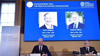 پل میلگرام و رابرت ویلسون،  برندگان جایزه نوبل اقتصاد