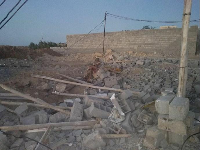 تخریب خانههای مردم در چابهار توسط پاسداران جنایتپیشه - 3