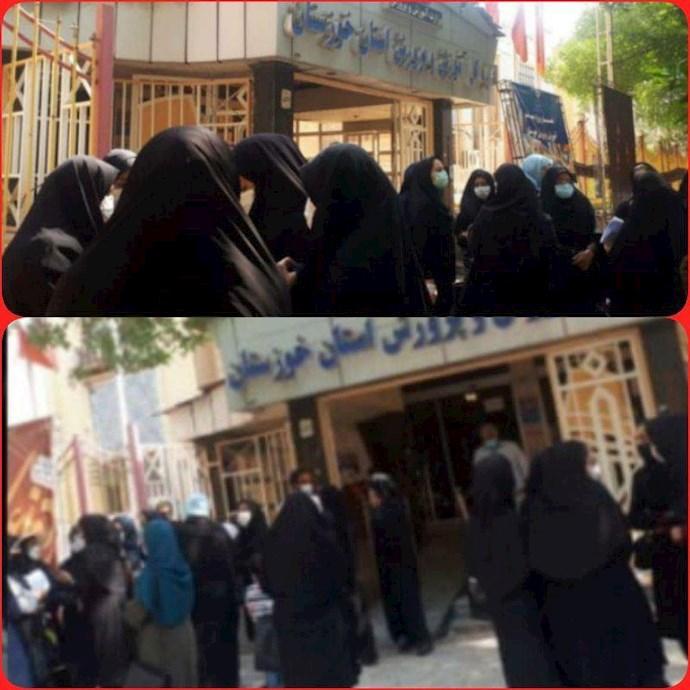 -تجمع اعتراضی مربیان پیش دبستانی شهرستان ایذه